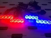 Стробоскопы для автомобиля цвета свечения красный/синий